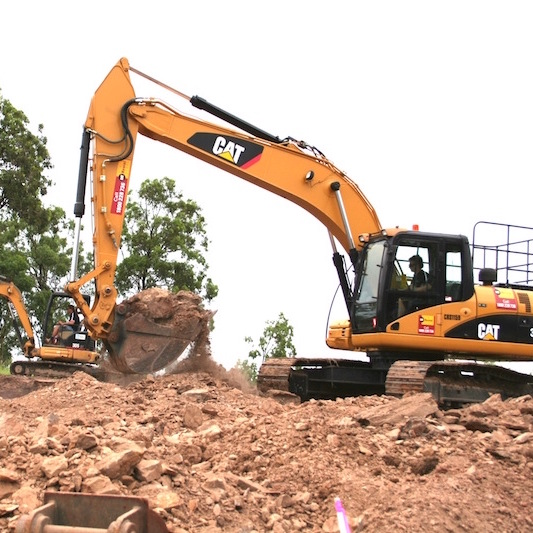 earthmoving for sandstone retaining walls